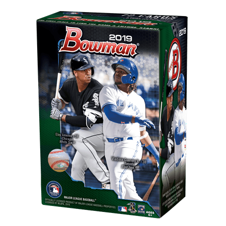 Baseball Trading Card Case Boxes (2019 Topps Bowman Baseball Blaster Box- 6ct with Chrome Parallel Inserts | 1989 30th Anniversary inserts | MLB Licensed Trading)