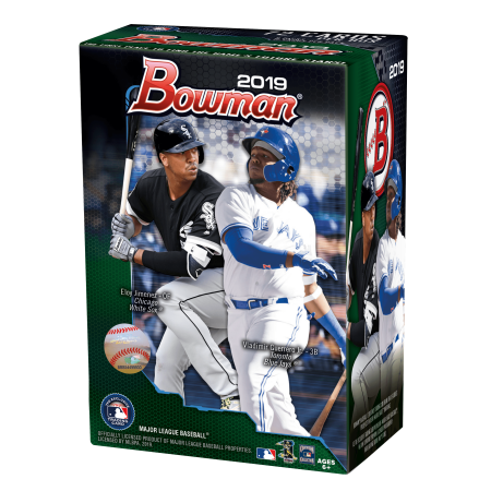 Topps Mlb Box - 2019 Topps Bowman Baseball Blaster Box- 6ct with Chrome Parallel Inserts | 1989 30th Anniversary inserts | MLB Licensed Trading Cards