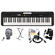 Casio CT-S200BK EPA 61-Key Premium Keyboard Package with Headphones, Stand, Power Supply, 6-Foot USB Cable and eMedia Instructional Software, Black