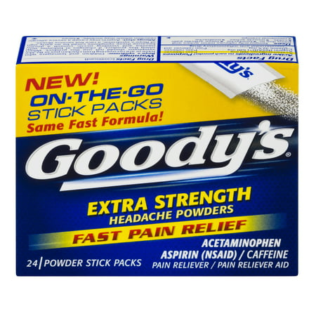 Goody's Extra Strength Headache Powders, Fast Pain Relief, 24
