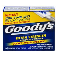 aba8633b8a Product Image Goody's Extra Strength Headache Powders, Fast Pain Relief, 24  Count