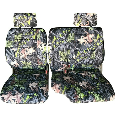 Seat Cover for Toyota Tacoma RCab XCab A67 60 40 Split Bench 10mm Thick Triple Stitched Exact Fit (Forest Camo) (60 40 Car Seat Covers)