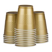 JAM Plastic Cups, 12 oz, Gold, 20/Pack