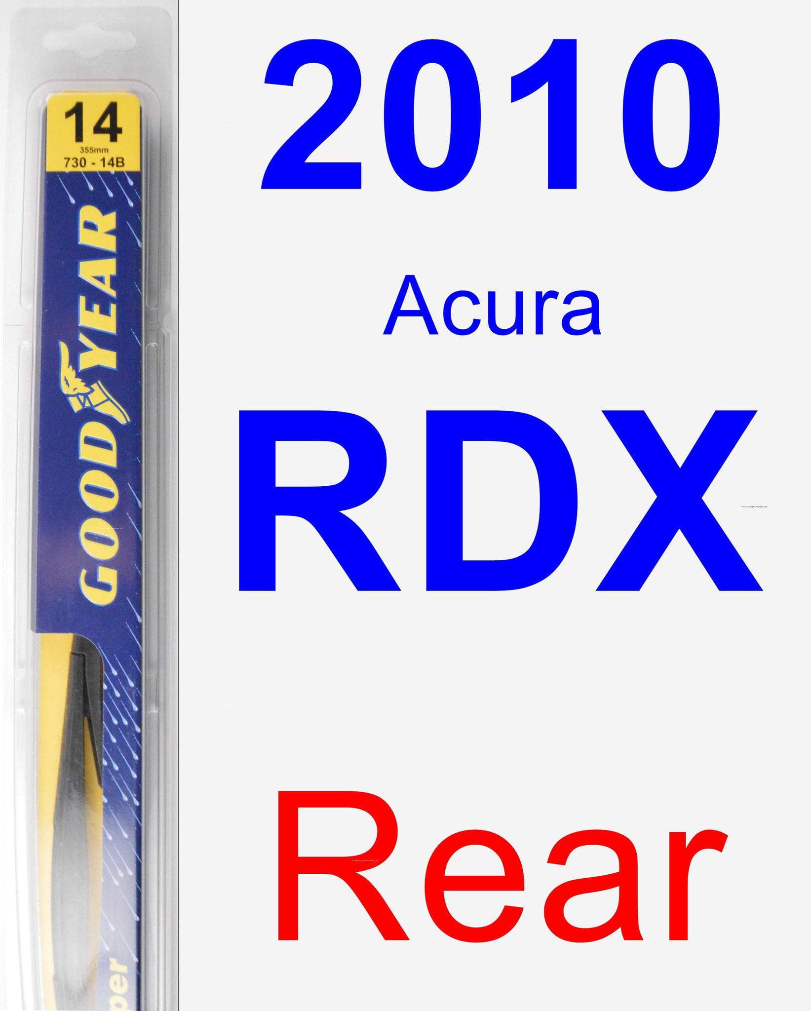 2010 Acura RDX Rear Wiper Blade
