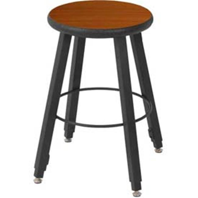 National School Lines QSSTL7186-AQ-AA 18-2 8 inch Adjustable Four-Legged Square Tube Fully Welded Stool, Wild Cherry
