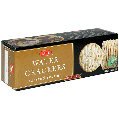 Dare Toasted Sesame Water Crackers, 12ct (Pack of 12)