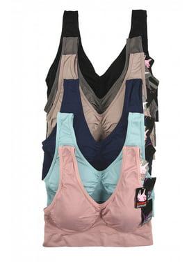afec74f13b Product Image Women Seamless One Size Racerbak Active Sports Yoga Padded Bra  - 6 Pack