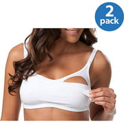 Loving Moments by Leading Lady Maternity Comfort Wirefree Nursing Cami Bra with Full Sling, 2-Pack