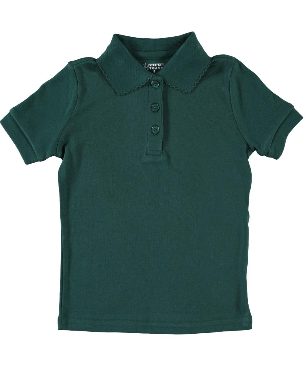 Short Sleeve Picot Collar Interlock Polo Shirt (Little Girls & Big Girls)