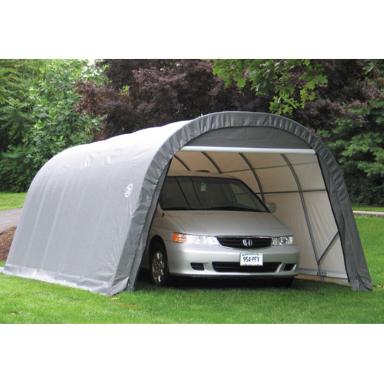 12' x 24' x 8' Round Style Shelter, Green by ShelterLogic