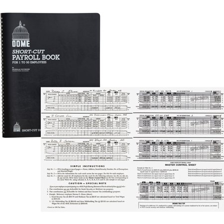 Dome, DOM650, Short-Cut Payroll Book, 1 Each Dome Publishing Payroll Book