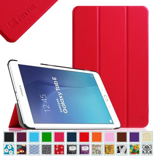 Samsung Galaxy Tab E 9.6 / Tab E Nook 9.6 Inch Tablet Case - Fintie Ultra Slim Lightweight Stand Cover, Red