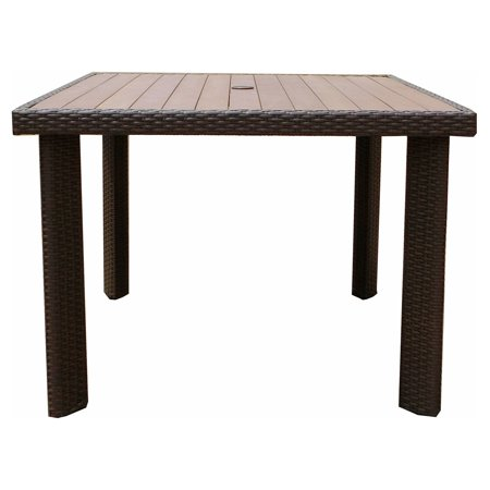 JJ Designs South Beach Wicker Square Plywood Top Dining Table South Beach 40 Dining Table