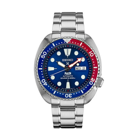 Seiko Men's Prospex PADI Blue Dial Steel Bracelet Automatic Dive Watch SRPA21 (Seiko Watches For Men Ssc)