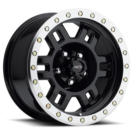 Vision Wheel Manx Style: 398 RWD, Finish: Gloss Black Machined Lip, Wheel Size Inches: 18 X 9 PCD: 8-170 Load Rating Lbs.