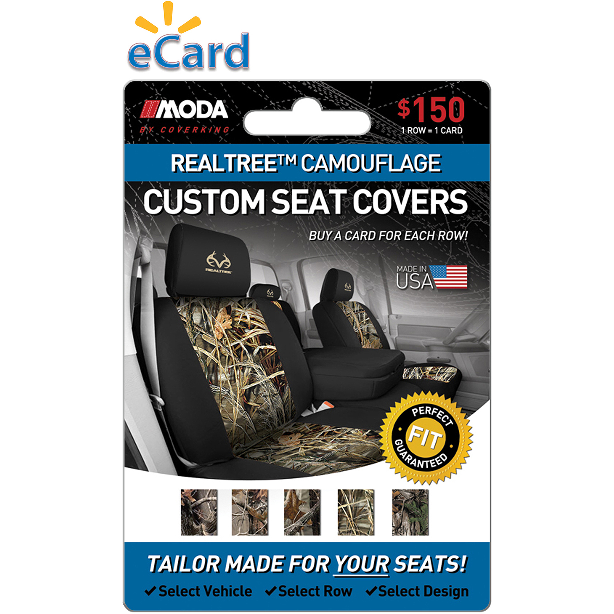 MODA by Coverking Designer Custom Seat Covers Real Tree $150 (Email Delivery)