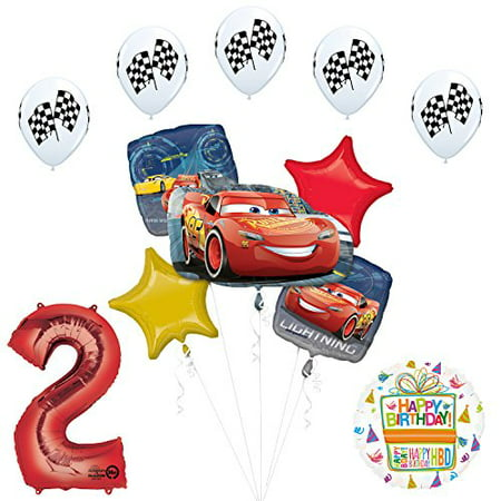 Disney Cars 3 Lighting McQueen 2nd Birthday Party Supplies - Car Birthday Supplies