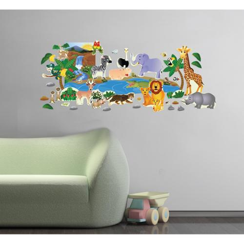 Peel and Play 'Jungle Friends' Wall Decal Set