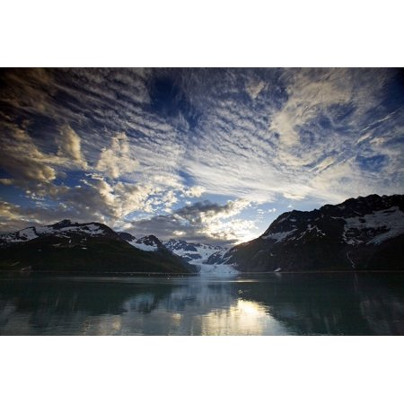 Surprise Glacier At Sunset Harriman Fjord Pws Southcentral Alaska Summer Posterprint