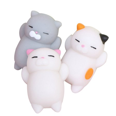 3Pcs Squishy Toy Set, Coxeer Cute Cartoon Animals Slow Rising Squeeze Toy Stress Relief Toy for Kids Children christmas - Stress Relief Gift