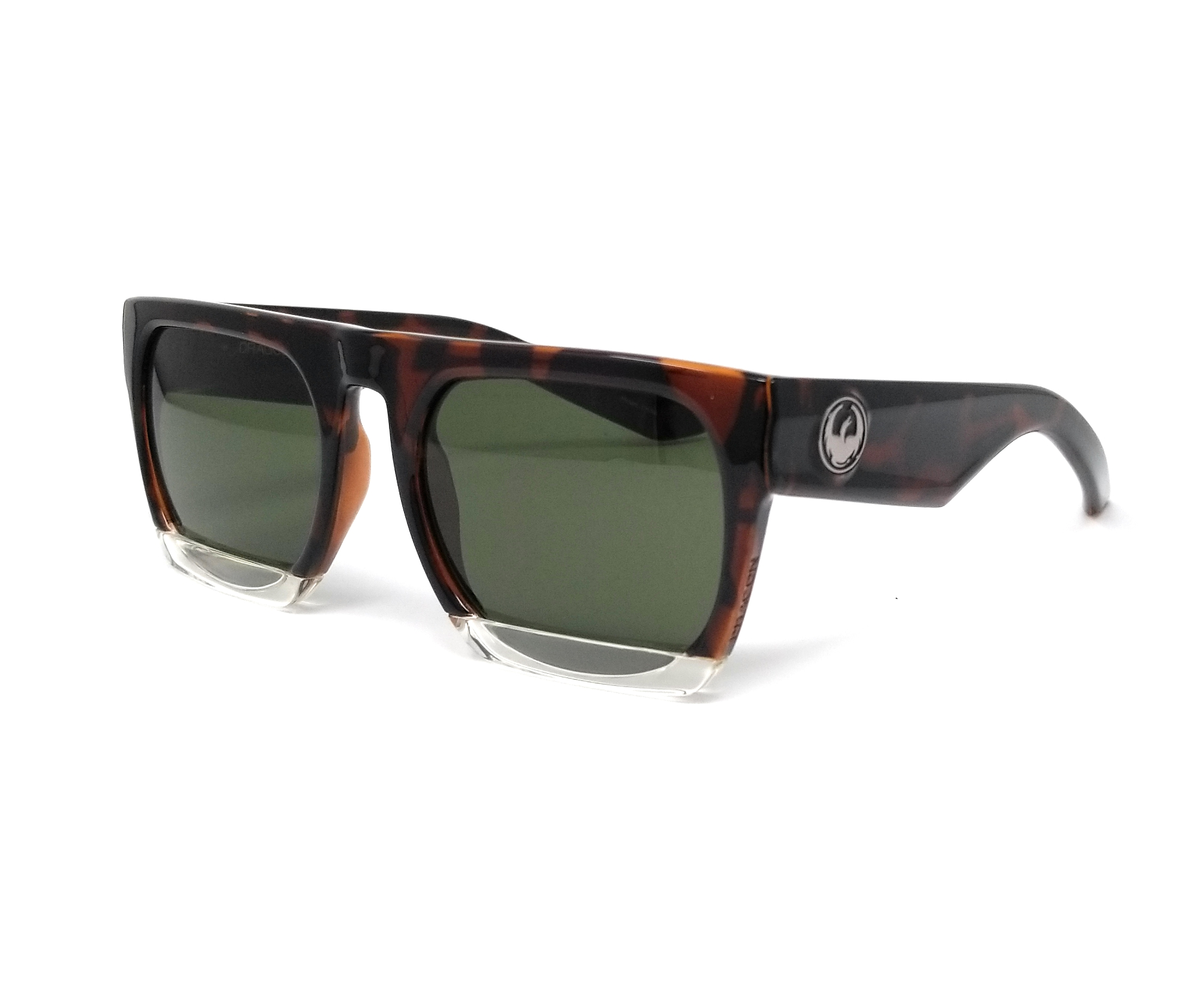 Dragon Alliance Blindside Tokyo Tortoise Frame with Green Lens Sunglasses