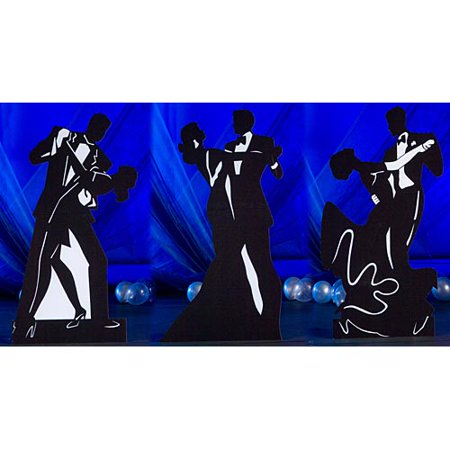 6 ft. 8 in. Dancing Couple Silhouettes