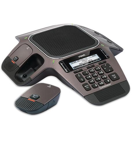 VTech ErisStation VCS754 IP Conference Station Wireless DECT 6.0 Desktop Black by VTech