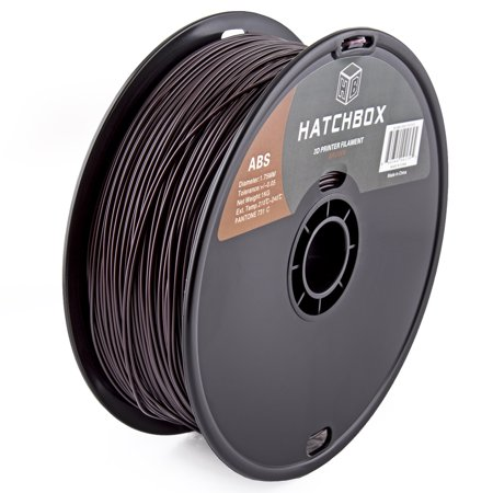 HATCHBOX 3D ABS-1KG1.75-731C ABS 3D Printer Filament, Dimensional Accuracy +/- 0.05 mm, 1 kg Spool, 1.75 mm, Brown