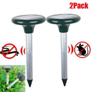 Best Chipmunk Repellents - Knifun 2 Pack Mole Repellent Gopher Repellent Ultrasonic Review