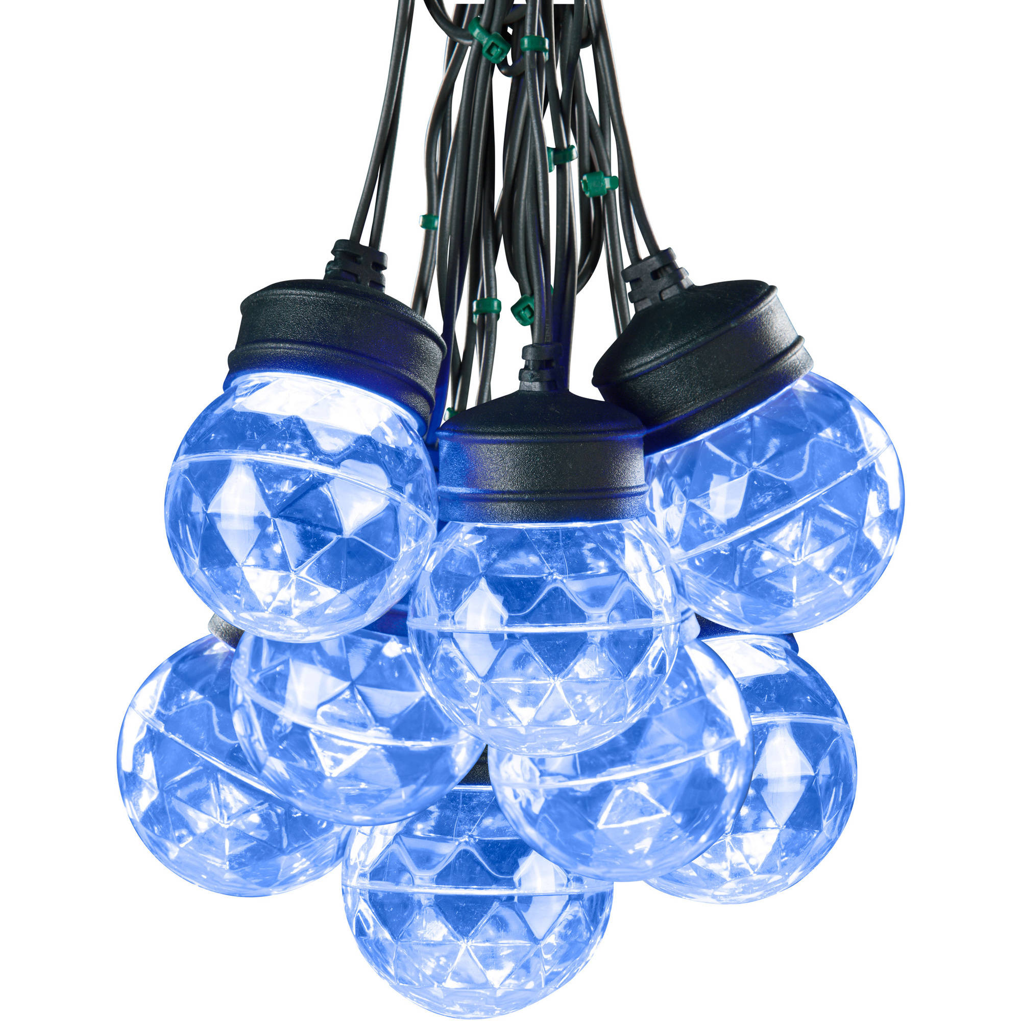 Lightshow Christmas Lights Projection Light String W / Clips-S / 8-Round, Icy Blue