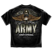 United States Army Strong Large Eagle T-Shirt by , Black