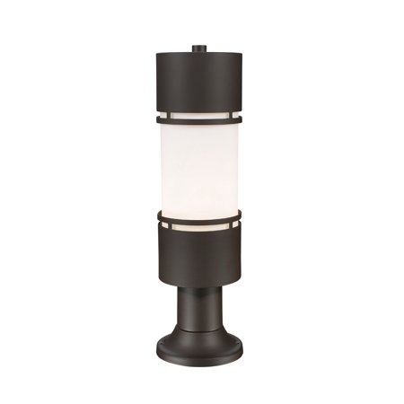 Outdoor Post 1 Light With Deep Bronze Finish Aluminum Material LED-Integrated 6 inch 14 Watts