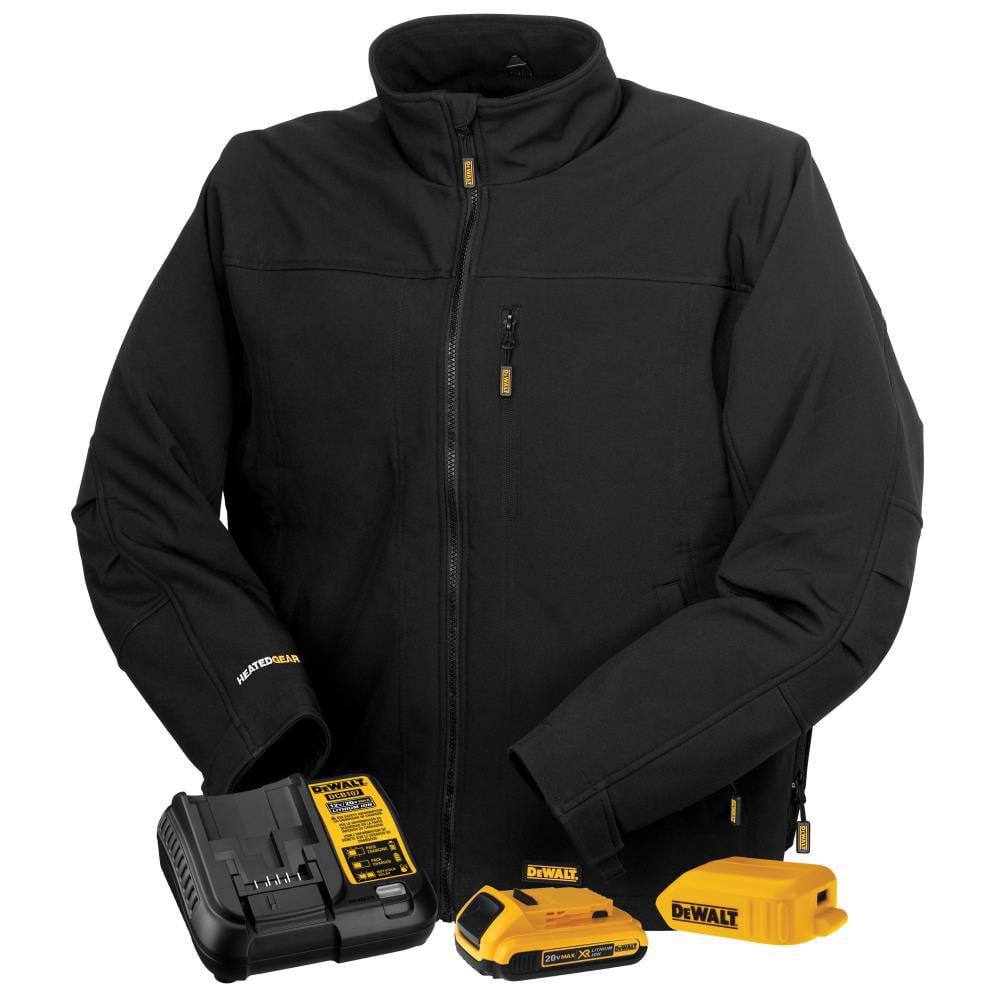 Dewalt-DCHJ060ABD1-2X Heated Black Soft Shell Work Jacket Kit - 2X