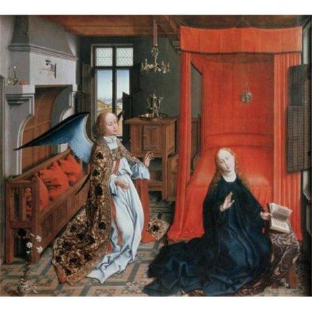 Posterazzi SAL9009356 The Annunciation No. 2 C1425-30 Rogier Van Der Weyden Ca 1399-1464 Netherlandish Musee Du Louvre Paris France Poster Print - 18 x 24 in. - image 1 of 1