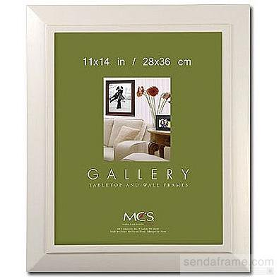 NANTUCKET distressed white wood poster frame from MCS