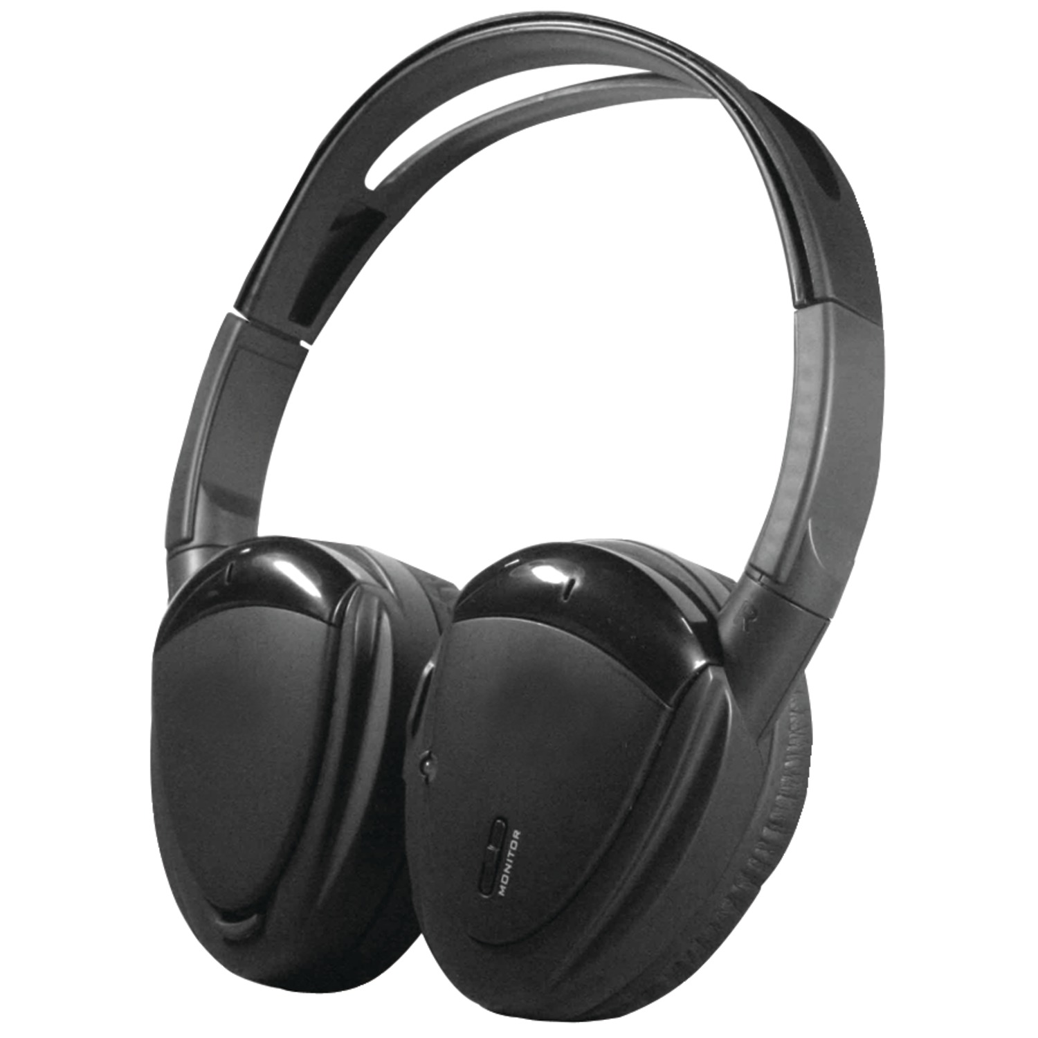 Power Acoustik Hp-900s 2-channel Rf 900mhz Wireless Headphones With Swivel Earpads