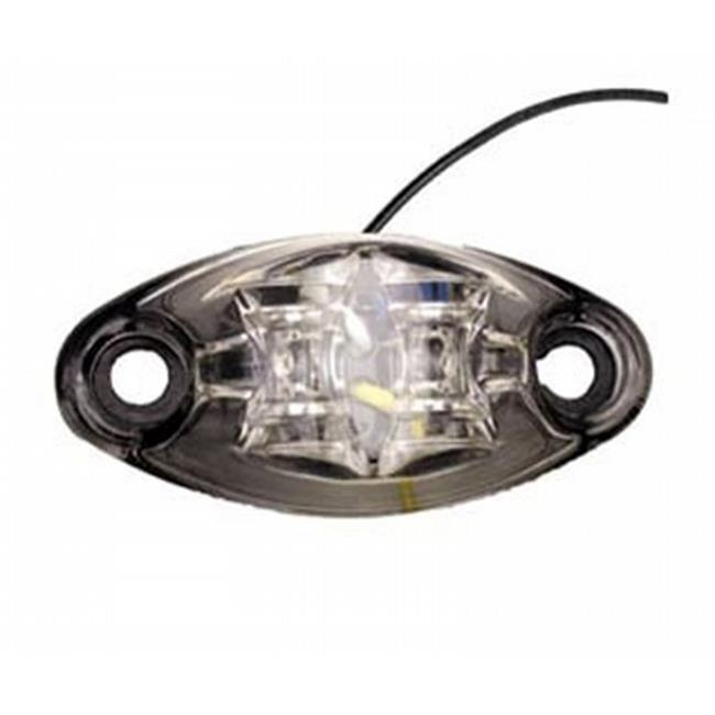DIAMOND GRP 52440 LED Exterior Light, 2 Diode 1 Wire Marker Light - Clear & Amber