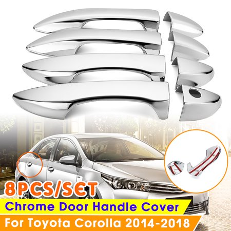 8Pcs Chrome Door Handle Cover Covers Trim For Toyota Corolla 2014 2015 2016 2017 2018