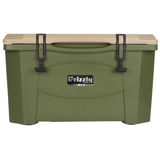 New Grizzly 40 quart OD Green/Tan Cooler