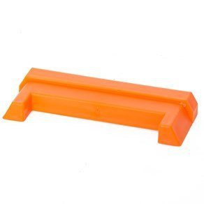 DC Cargo Mall Durable Orange Plastic End Protector Cover Cap for Horizontal E Track Tie-Down Rails in Trailers, Vans, Trucks, and Warehouses