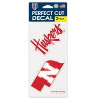 "Nebraska Cornhuskers WinCraft 4"" x 4"" Perfect Cut 2-Pack Car Decal Set - No Size"