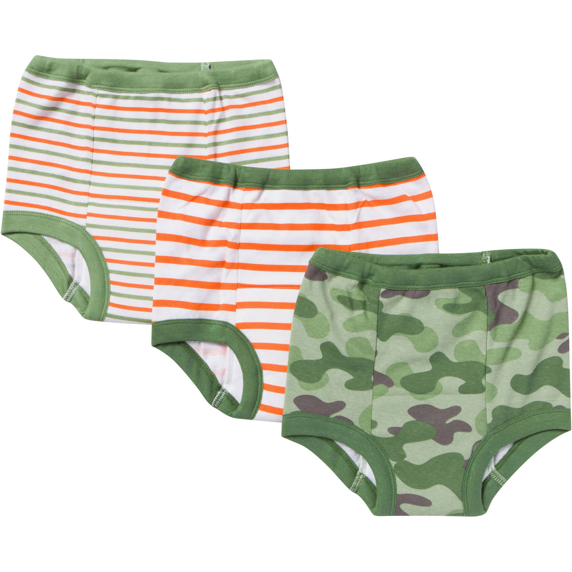 Gerber Toddler Boy's Assorted Training Pants, 3-Pack