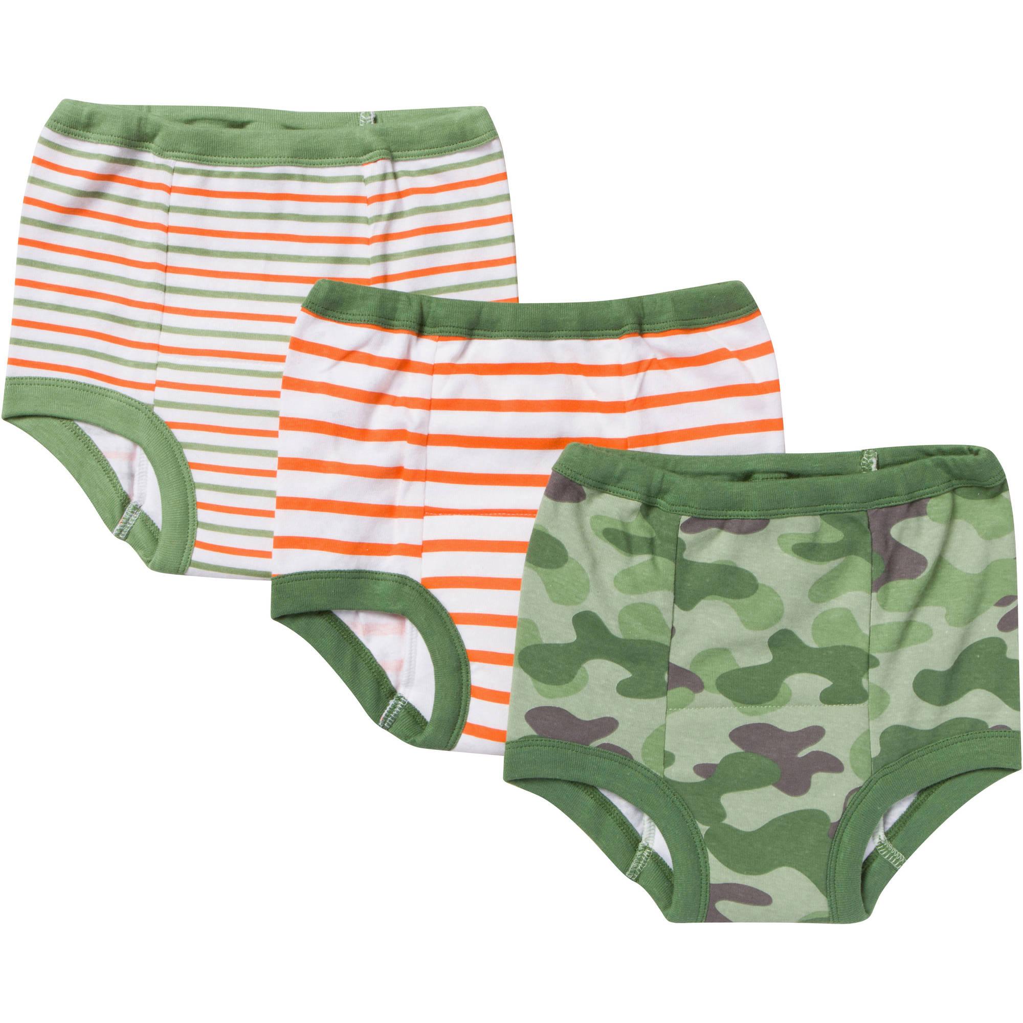 Gerber Toddler Boy's Assorted Training Pants, 3-Pack