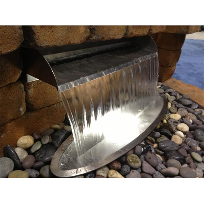 Atlantic Water Gardens SS12 12 inch Stainless Steel Scupper - No Light