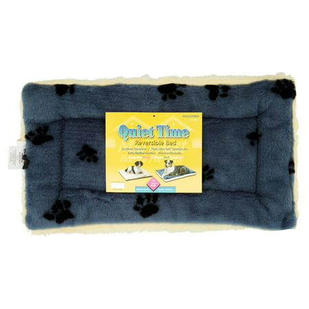 """Midwest Fleece Blue Paw Print Reversible Dog and Cat Bed 22"""""""