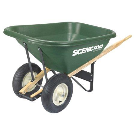 Scenic Lane Dual Wheel 8 Cube Wheelbarrow - 400 lb
