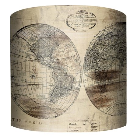 PTM Images World Map Drum Lamp Shade (World Map Lamp Shade)