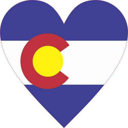 Colorado Heart - 4inx4in Colorado Flag Heart Sticker Vinyl Cup Decal State Bumper Stickers