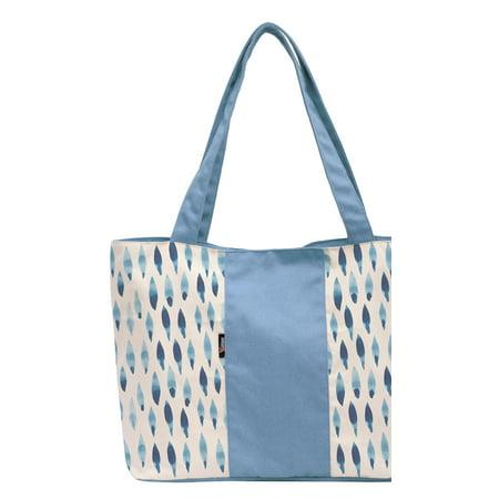 7f918eb56698 Watercolor Blue Rhombus-8 Multi-purpose Printed Canvas Shoulder Tote Bag  WAS_17