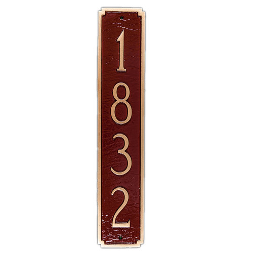 Montague Metal Products Inc. Madison Column Address Plaque